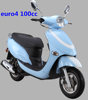 EEC4 street legal 100cc EFI gas scooter/100cc motorcycle with alloy rims (TKM100E-12B)