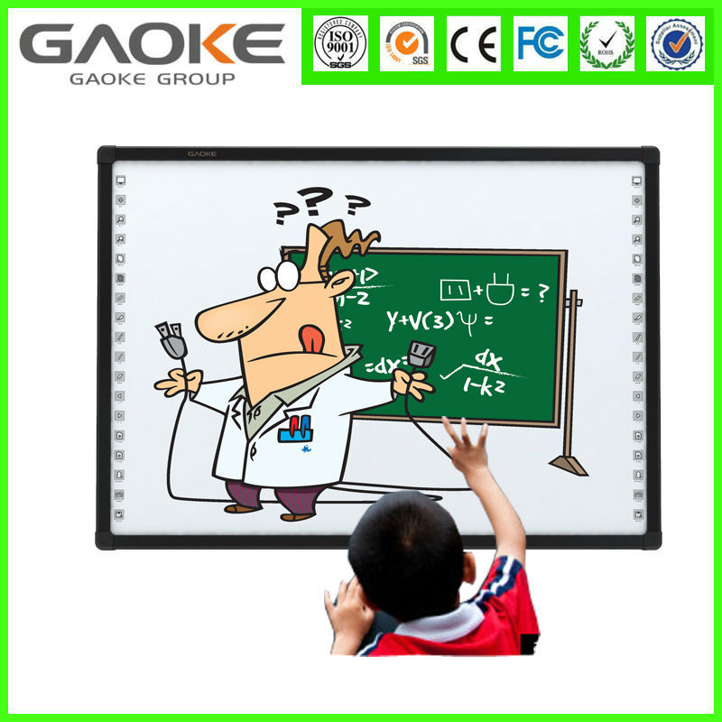 New Gaoke 78 82 85 96 104 inch infrared school interactive whiteboard flexible magnetic sheet