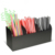 Black  Acrylic condiment organizer for desktop napkin and lid straws Holder