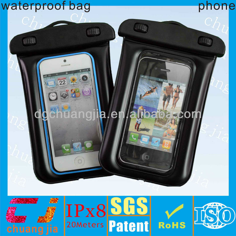 High quality swimming waterproof pouch bag used in water for iphone 5