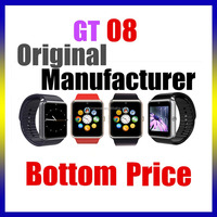 fashion luxury digital sport wrist brand android bluetooth gt08 smart watch phone 2015 women watches men smartwatch