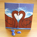 2016 Affordable Guangzhou Forever in Love Wooden Wedding Invitation Card