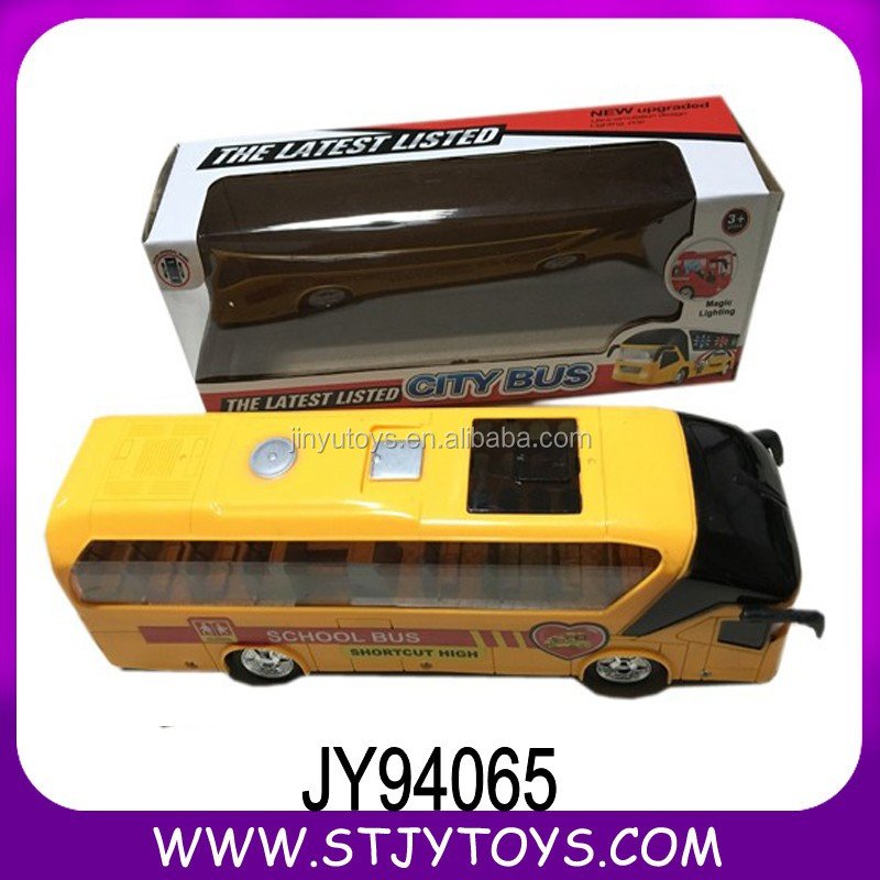 Yellow color electric battery operated Plastic vehicle toy school bus for sale