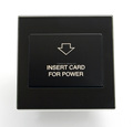 Modern Black Hotel Key Card Switch