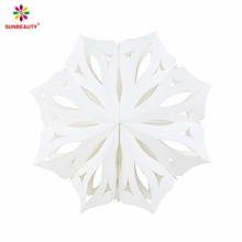 Sunbeauty Wholesale Wedding Hanging White Bulk Paper Pinwheel Fans