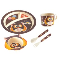 Wholesale melamine kids dinner set Eco-friendly bamboo melamine dinner sets for kids