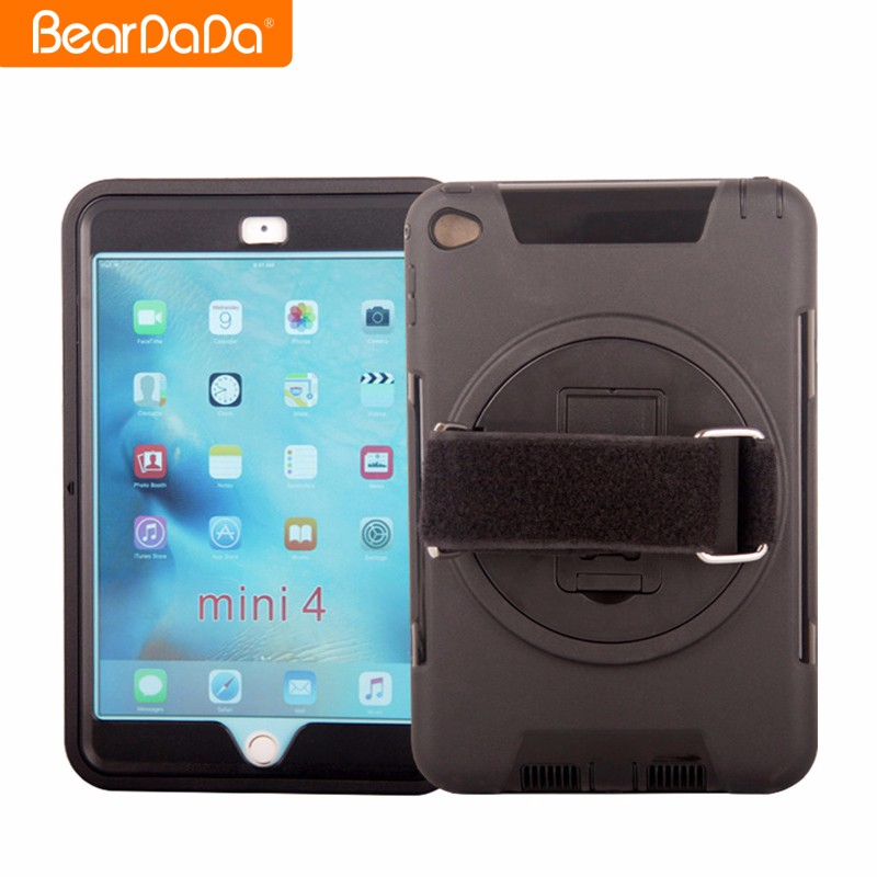 Hybrid 2 in 1 TPU PC for ipad mini 4 case black