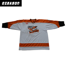 High quality custom made your own unique sewing pattern ice hockey jersey