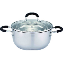 Europe stainless steel two handles saucepan with lid