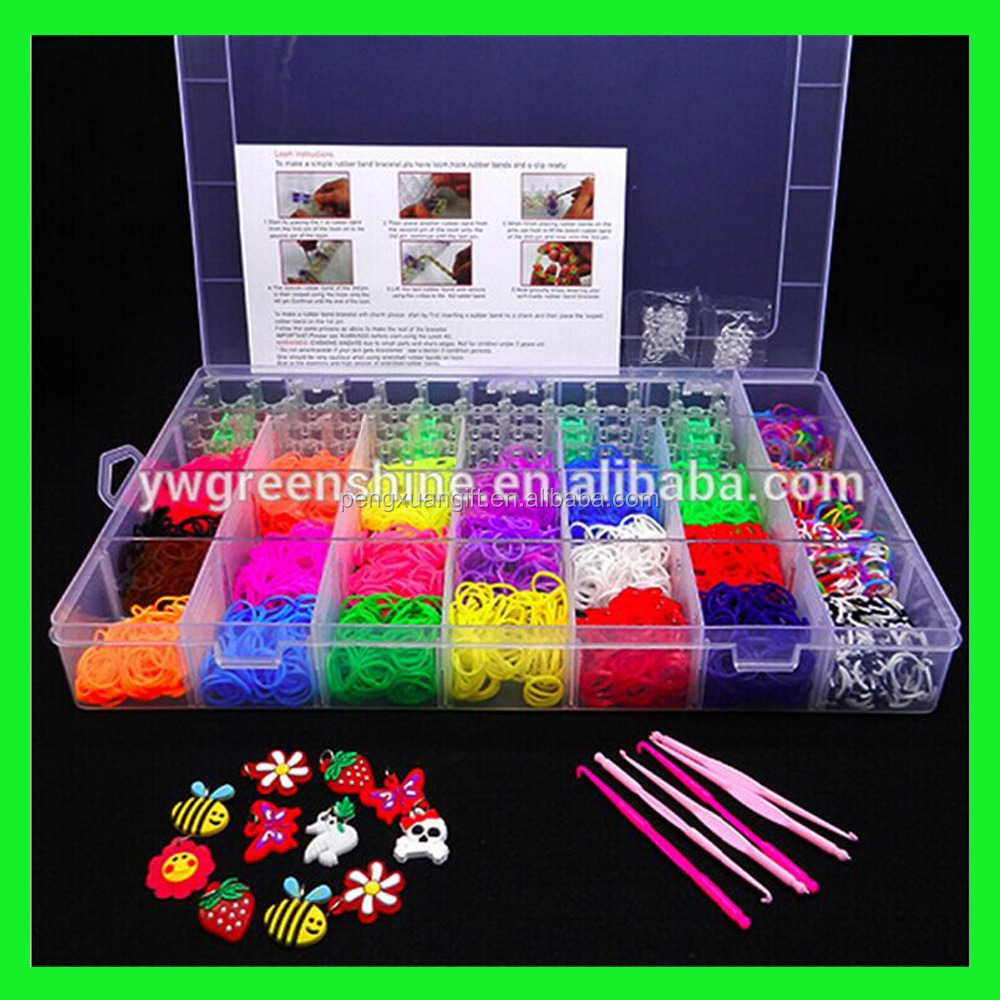 2016 Certified High Quality Rubber Loom Bands ,colorful cheap loom bands kit Child Gift Loom DIY Bands