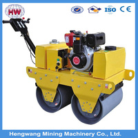 2015 Hot selling HW-600 small walk behind double Drum price road roller compactor