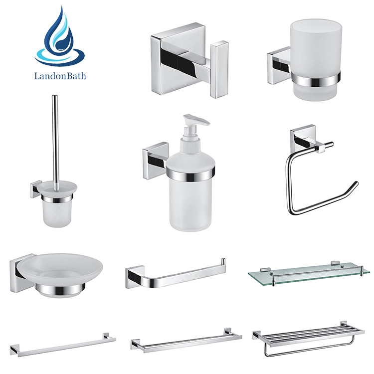 Best price Bathroom Accessories Chromed Brass & Stainless steel Bath Accessories