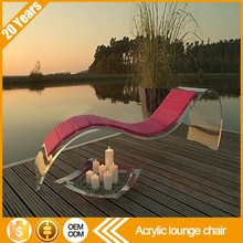 Relaxing leisure recliner function luxury modern acrylic outdoor sun beach swimming pool chaise sex lounge chair