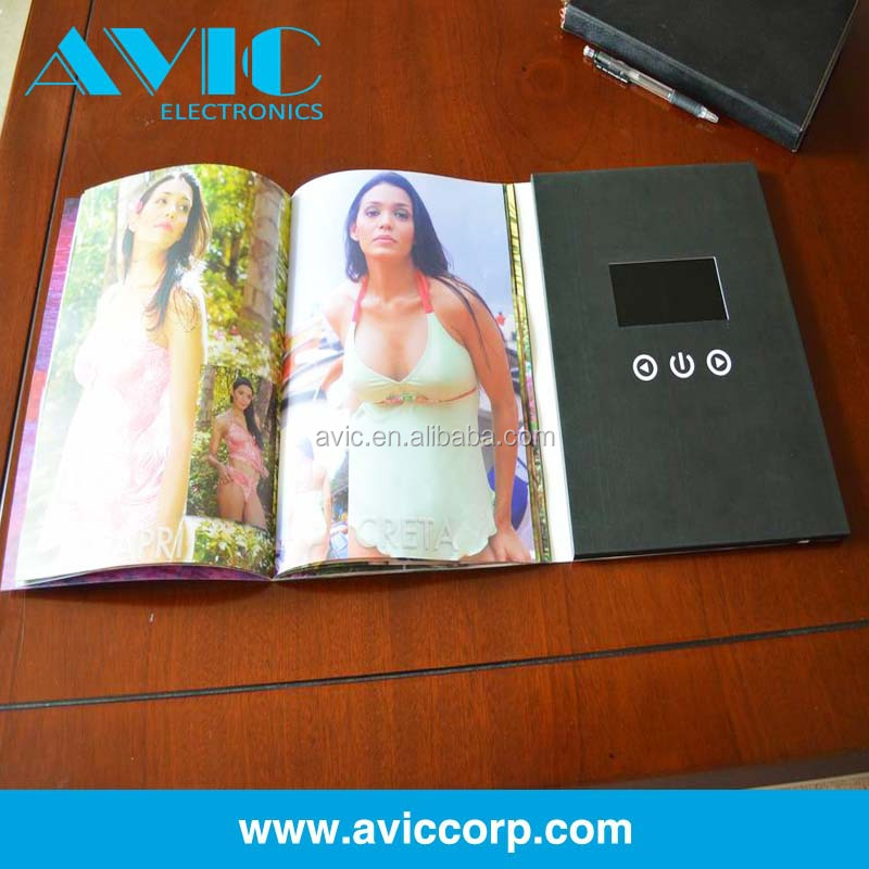 LCD screen video brochure/digital video booklet/media video player