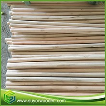 Natural Wood Straight Wooden Eucalyptus Natural Wooden Sticks For Brooms Broom Stick