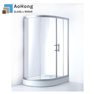 8MM 10MM 12MM 15MM 19MM Tempered Curved Glass Shower Door