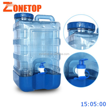 5 gallon water buckets 18.9 litre/2.5 gallon water pails/plastic drums with screw cap