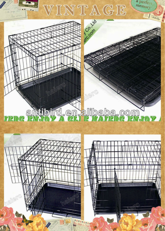Foldable Colored Steel Dog Crate DSA30