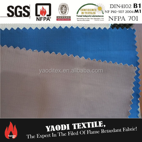 Wholesale 100% polyester inherent flame retardant fire resistant turkish twisting stripe satin curtain fabric
