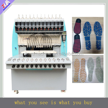 fast program system pvc insole maker machine plastic shoe sole equipment