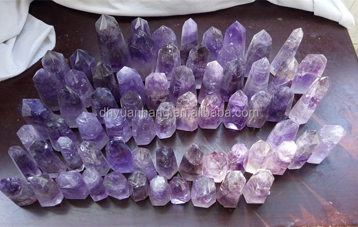 High quality natural amethyst quartz crystal points,amethyst crystal raw points,healing crystal wands