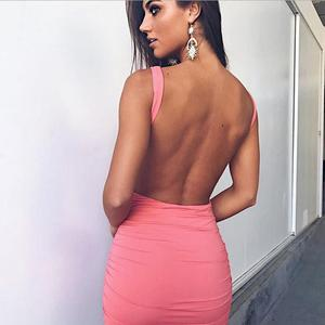 sexu back open evening backless dress elegant/women sexy mini bodycon summer dress wholesale short