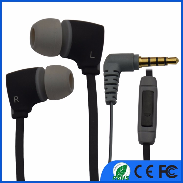 Best Sell mobile accessories cheap plastic earphones with insert mic 2016
