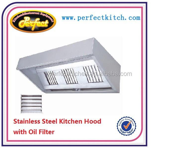 Restaurant Kitchen Hoods Stainless Steel stainless steel commercial kitchen extractor hood /restaurant