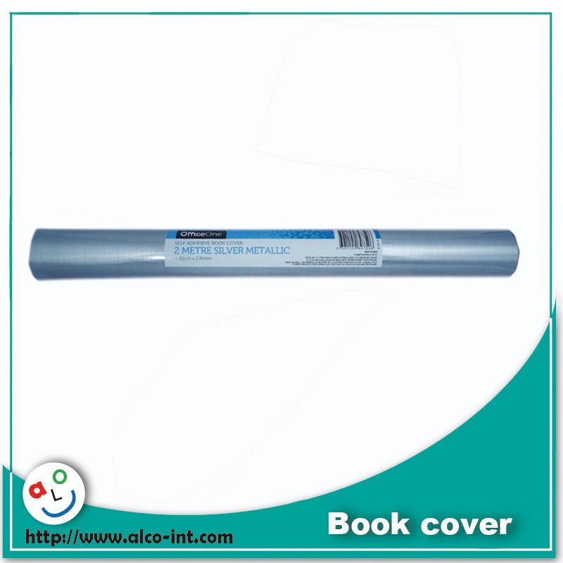 2 Metre silver metallic self adhesive plastic roll for book cover