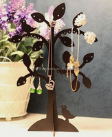 Jewelry tree stand metal necklace holder earring holder