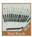 2014 new fashion design acrylic with diamond decoration handle good quality hair nail brush