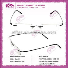 Wholesale Fashion Metal Frameless Reading Glasses