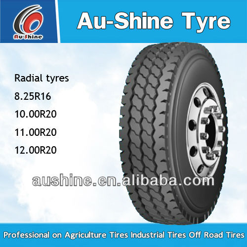 Tyres for radial truck tires 9 00R20
