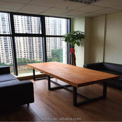 China supplier manufacturer solid wood metal frame office desk/Conference table