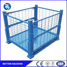 Collapsible Warehouse Metal Bin Storage Container Wire Mesh Cage