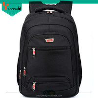 cheap nice good quality black backpack with water bottle holder, school bag travelling bag