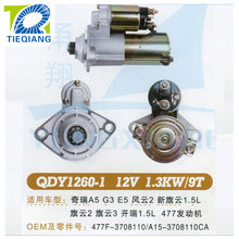 Truck motor starter with High Quality QDY1260-1