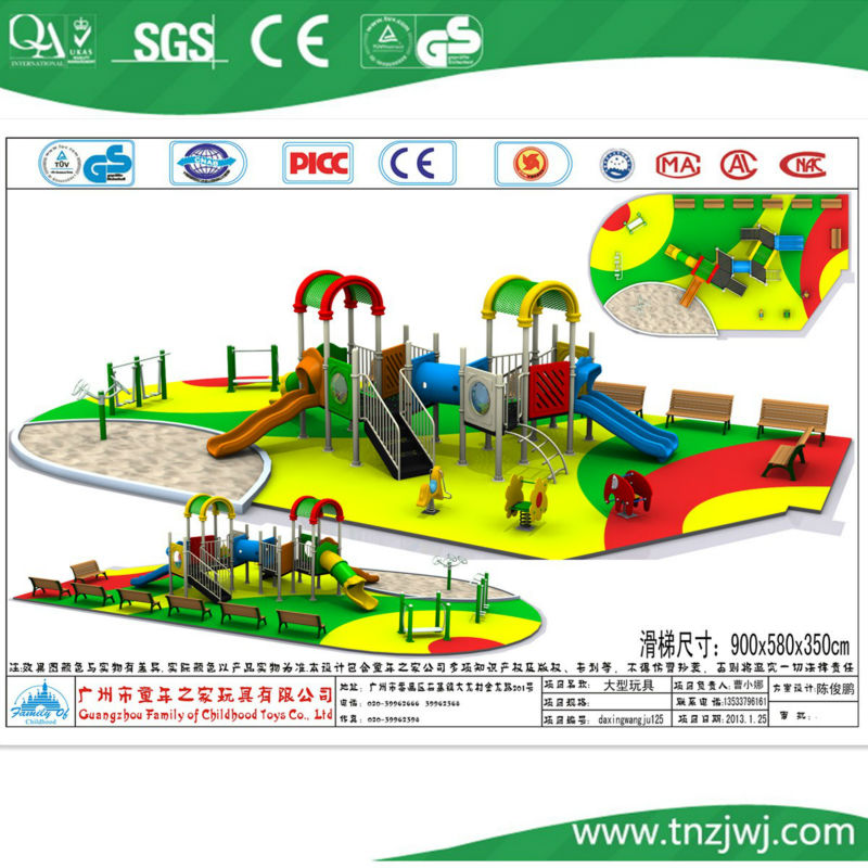 plastic playground system outside ,plastic slide, outdoor plastic playground