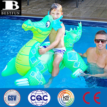top quality vinyl giant inflatable dragon rider toys pool float durable plastic realistic blow up dragon ride-on with handles