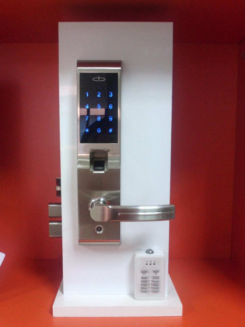 Appartment digital touch screendoor lock with pin key for 1 touch door lock