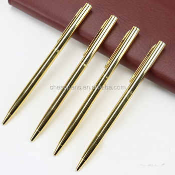 wholesale gold electroplating metal slim cross pen custom logo