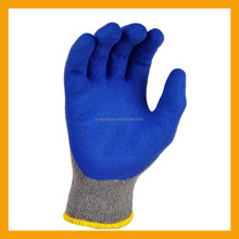 Cheap Blue Textured Latex Coated Gripping Gloves
