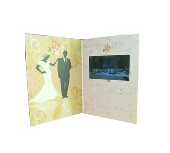 2018 hot sale video greeting card wedding greeting video card gift