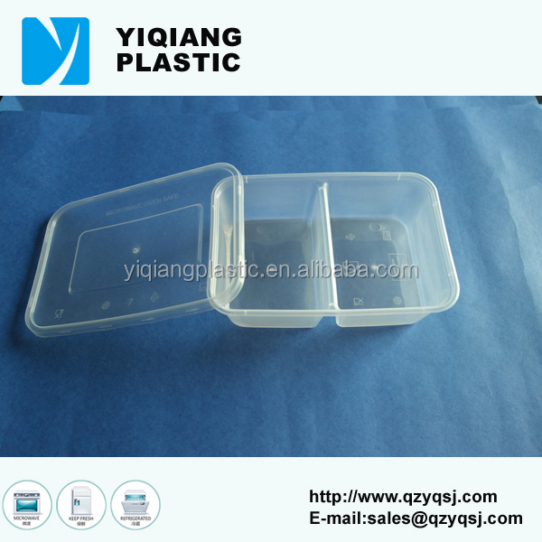 Newly Plastic cheap lunch box with divider