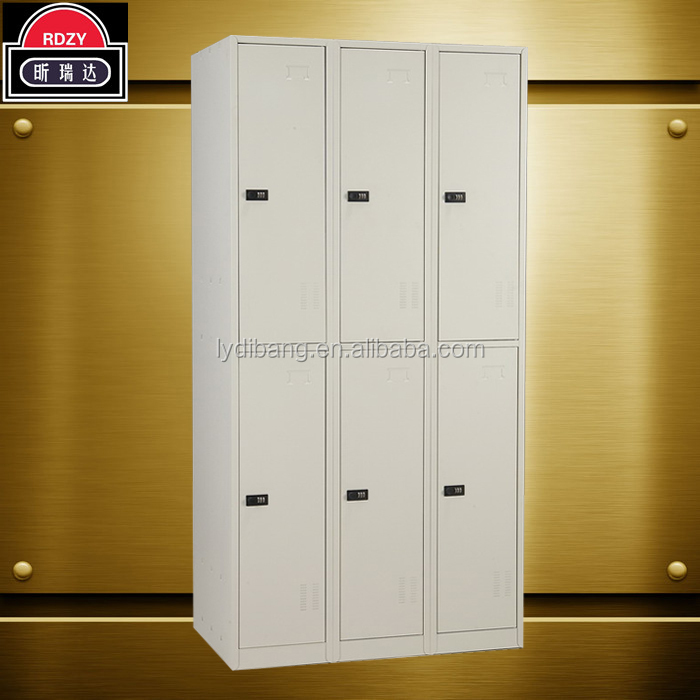 Hot gaorui 6 doors metal clothes locker, steel shoes locker