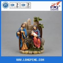 Christmas Holy Family Statues,Flight Into Egypt Statue 6.7IN