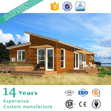 UK customized steel structure prefabricated single slope roof prefabricated bungalow house for sale