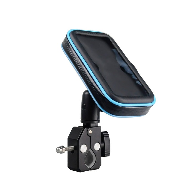 Anti-vibration durable high quality metal clamp bike phone mount waterproof for Samsung Galaxy S5