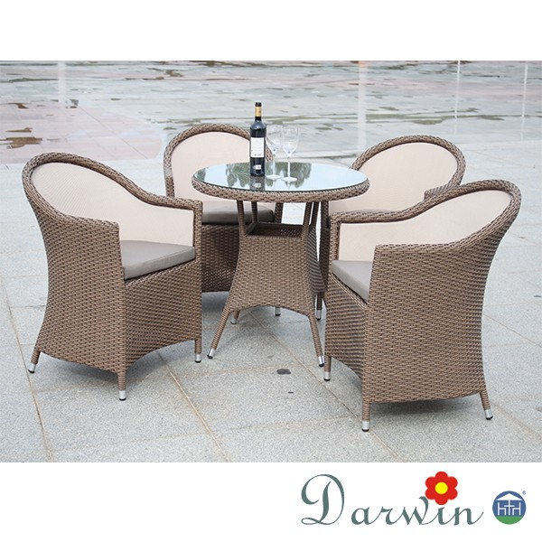 Cheap modern rattan dining set dining table and chairs for Affordable modern dining sets