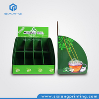 Color Printing Eight Cells Greeting Card Display Counter Display for Convenience Store